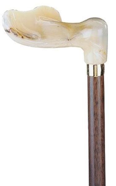 Gehstock, Fischerstock anatomisch links