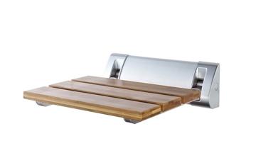 Duschklappsitz aus Bambus